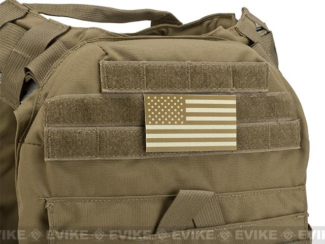 Matrix IR Reflective United States  PVC Flag Patch Set (Tan)