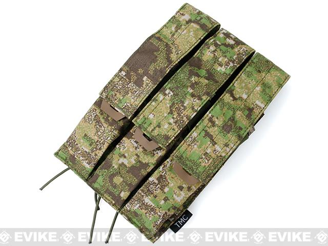 TMC MOLLE QUOP KRISS SMG Triple Mag Pouch - PenCott Greenzone