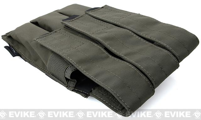 TMC MOLLE QUOP KRISS SMG Triple Mag Pouch - Ranger Green