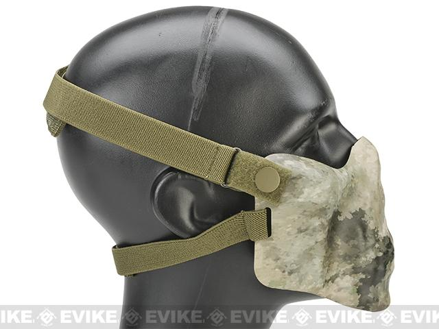 Avengers Iron Face Skull Imprint Nylon Lower Half Mask - Arid Camo