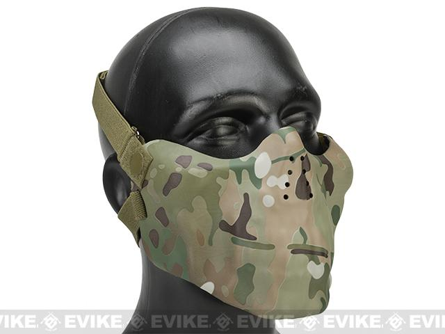 Avengers Iron Face Skull Imprint Nylon Lower Half Mask - Multicam