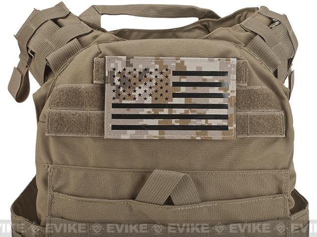 Avengers IR Reflective XL American Flag Patch - Left (AOR1)