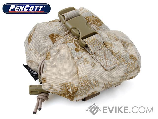 TMC SP5 Cordura Single Frag Grenade Pouch - PenCott SandStorm