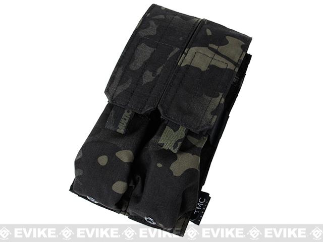 TMC SMG MP7A1 Double Magazine MOLLE Pouch - Multicam Black