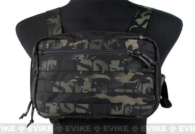 TMC Tactical Combat Chest Recon Bag - Multicam Black