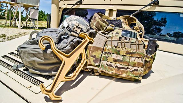 Tough Hook Armor Plate Carrier Hanger - Green