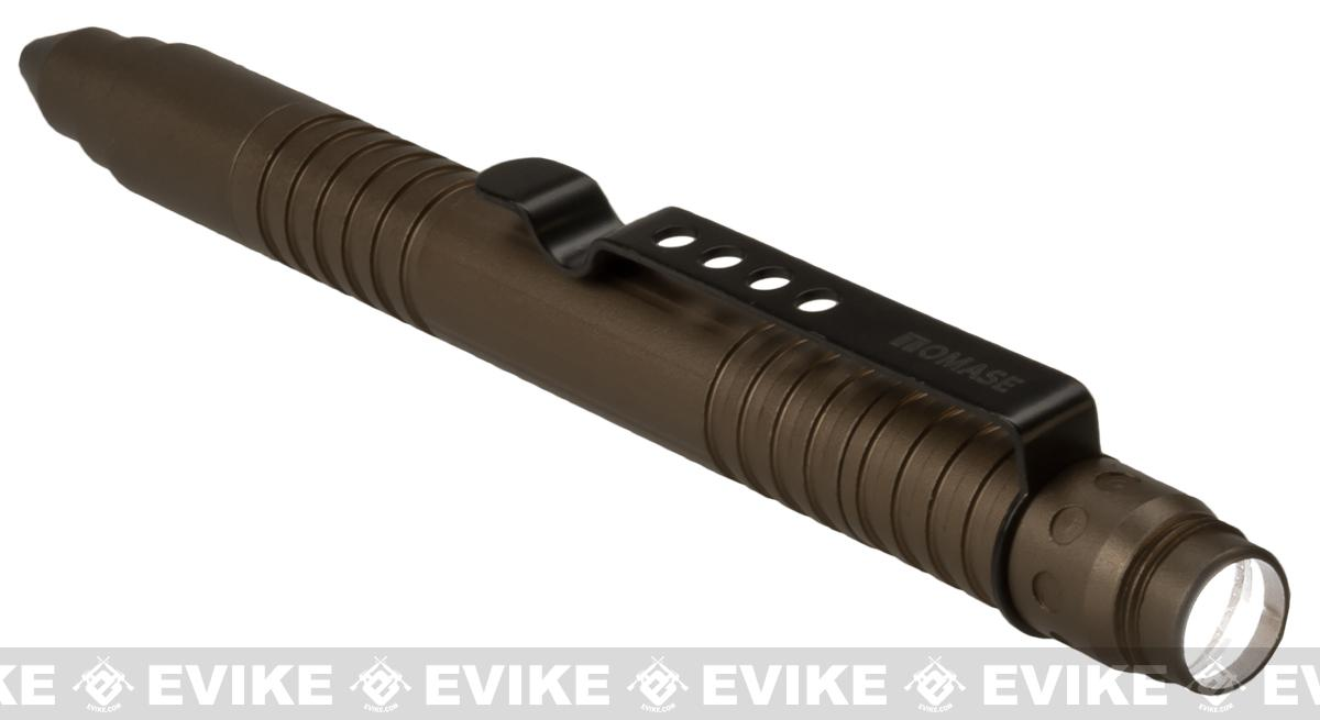 EDC Tactical Pen with Crew Cap Ballpoint Pen and Glass Breaker with Pocket Clip - Bronze