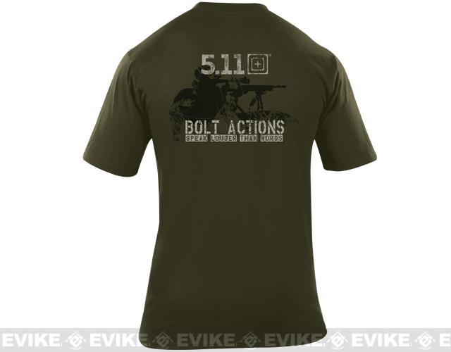 z 5.11 Tactical Bolt Actions Speaks Louder Than Words T-shirt - Large