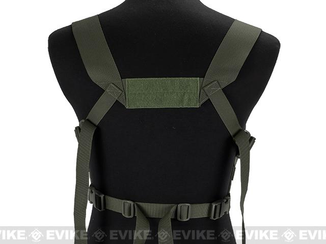 Blue Force Gear Ten-Speed M4 MOLLE Chest Rig - Camo Green