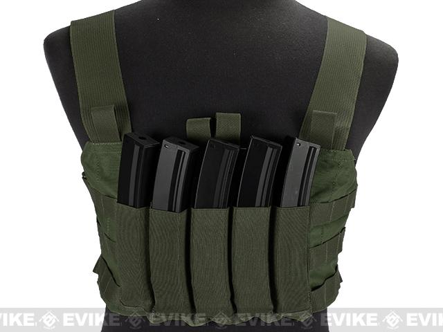 Blue Force Gear Ten-Speed MP7 MOLLE Chest Rig - Camo Green