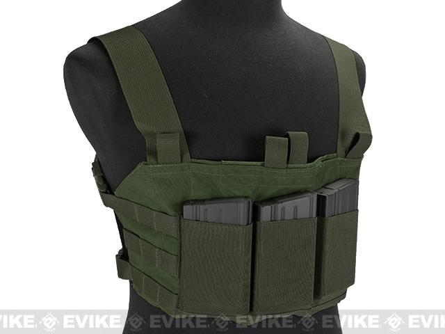 Blue Force Gear Ten-Speed SR25 MOLLE Chest Rig - Camo Green