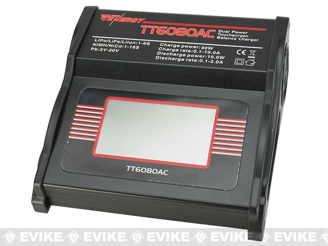 Tenergy TT6080AC 80W AC/DC Balance Charger with Touch Screen LCD for NiMH/NiCd/LiPo/Li-ion/LiFePO4