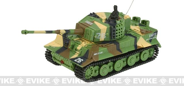 Armor Corps 1:72 Scale RC Battle Tank - Tiger (Color: Woodland)