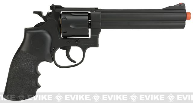 UHC / TSD Heavy Weight 6 Airsoft Spring Revolver -  Black