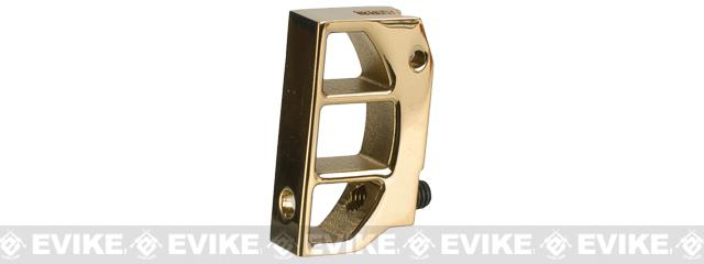 UAC Stainless Steel Trigger for TM 5.1 / 4.3 Hi-Capa Series Airsoft GBB Pistols - Type C (Gold Ti-Coating)