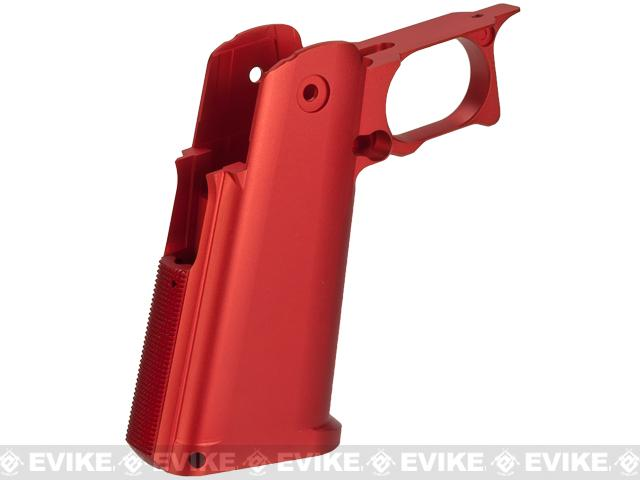 UAC CNC Aluminum Blaster Grip for TM Hi-CAPA 5.1 Series Airsoft GBB Pistols - Red
