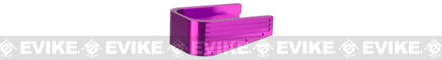 UAC Aluminum Magazine Base for 5.1 Hi-Capa Series Airsoft GBB Pistol Magazines - Type C / Purple