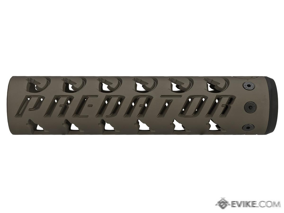 Unique ARs CNC Machined Predator Handguard for AR15 Pattern Rifles (Color: Dark Earth / 9 / Rail Only)