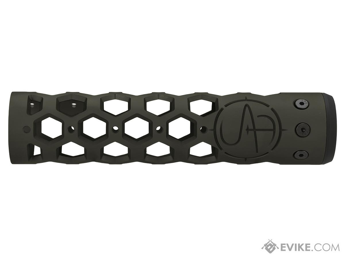 Unique ARs CNC Machined Hex Handguard for AR15 Pattern Rifles (Color: OD Green / 9 / Rail Only)