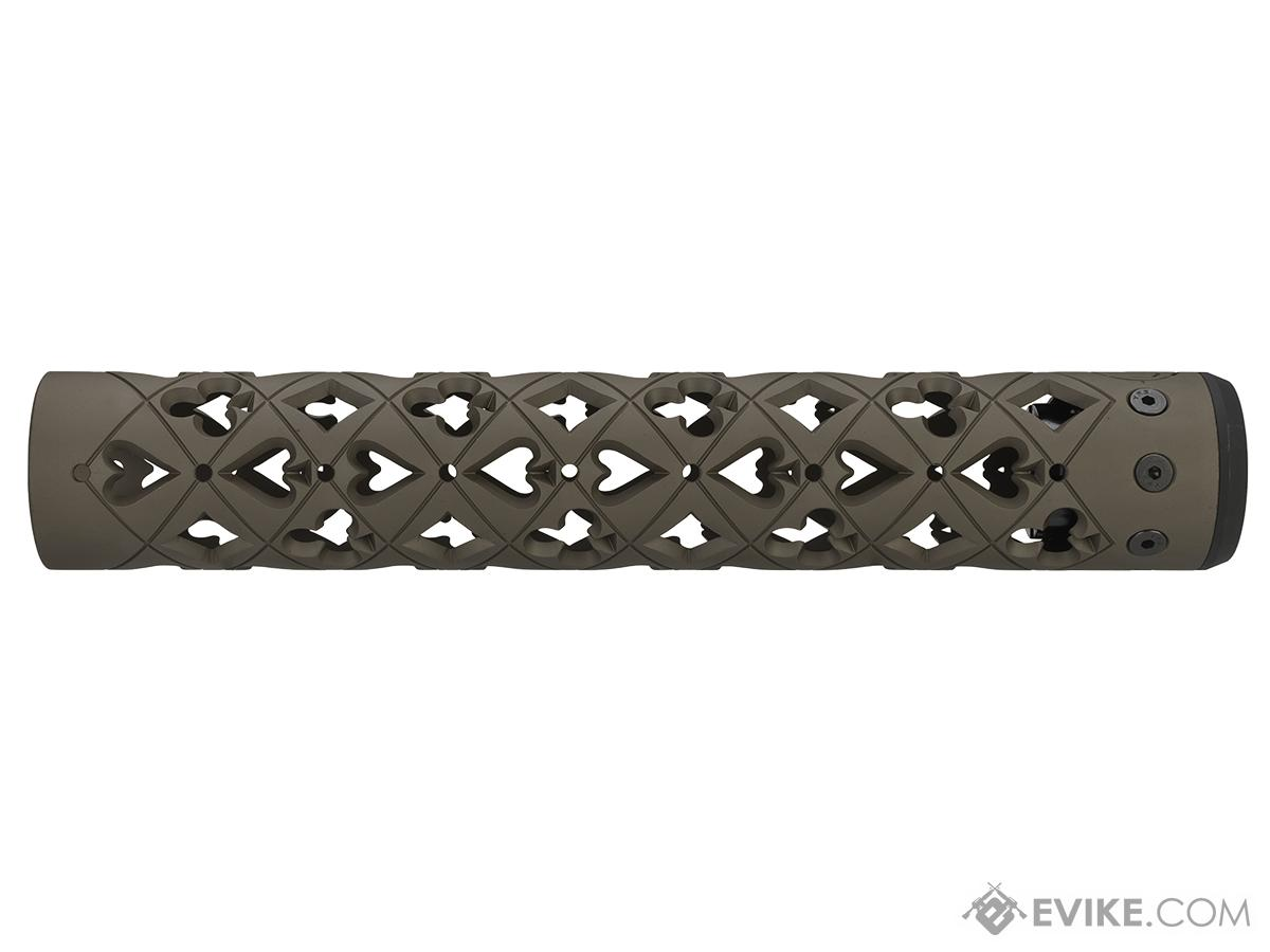 Unique ARs CNC Machined Vegas Handguard for AR15 Pattern Rifles (Color: Flat Dark Earth / 12 / Rail Only)