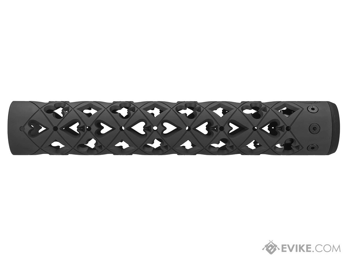 Unique ARs CNC Machined Vegas Handguard for AR15 Pattern Rifles (Color: Black / 9 / Rail Only)
