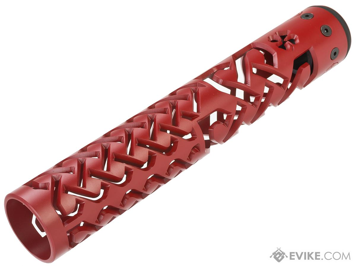 Unique ARs CNC Machined Celtic Knot Handguard for AR15 Pattern Rifles (Color: Red / 12 / Rail Only)