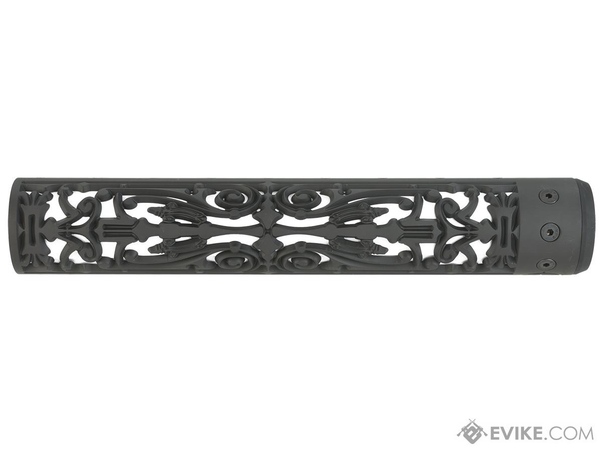 Unique ARs CNC Machined Filigree Handguard for AR15  Pattern Rifle (Color: Black / 12 / Rail Only)
