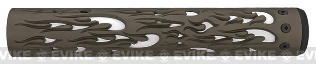 Unique-ARs Flame 12 CNC Handguard for M4 & M16 AEG / GBBR / Real AR-15 Rifles – Flat Dark Earth