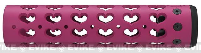 Unique-ARs Hearts 9 CNC Handguard for M4 & M16 AEG / GBBR / Real AR-15 Rifles – Pink
