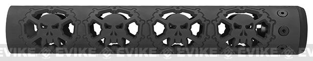 Unique-ARs Skulls 12 CNC Handguard for M4 & M16 AEG / GBBR / Real AR-15 Rifles � Black