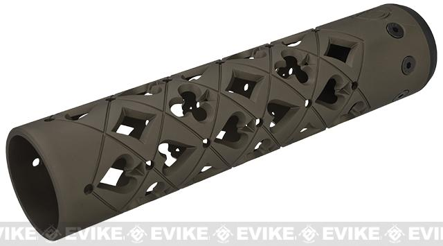 Unique-ARs Vegas 9 CNC Handguard for M4 & M16 AEG / GBBR / Real AR-15 Rifles – Flat Dark Earth