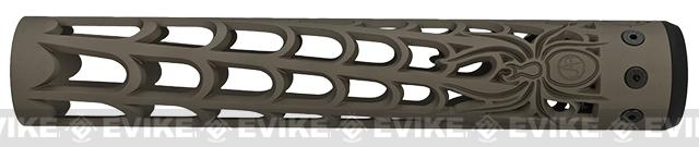 Unique-ARs Spider Web 12 CNC Handguard for M4 & M16 AEG / GBBR / Real AR-15 Rifles � Flat Dark Earth