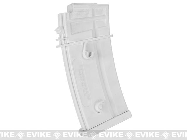 6mmProShop White 400rd Hi-Cap Magazine for Pink Series G36 Airsoft AEG Rifles