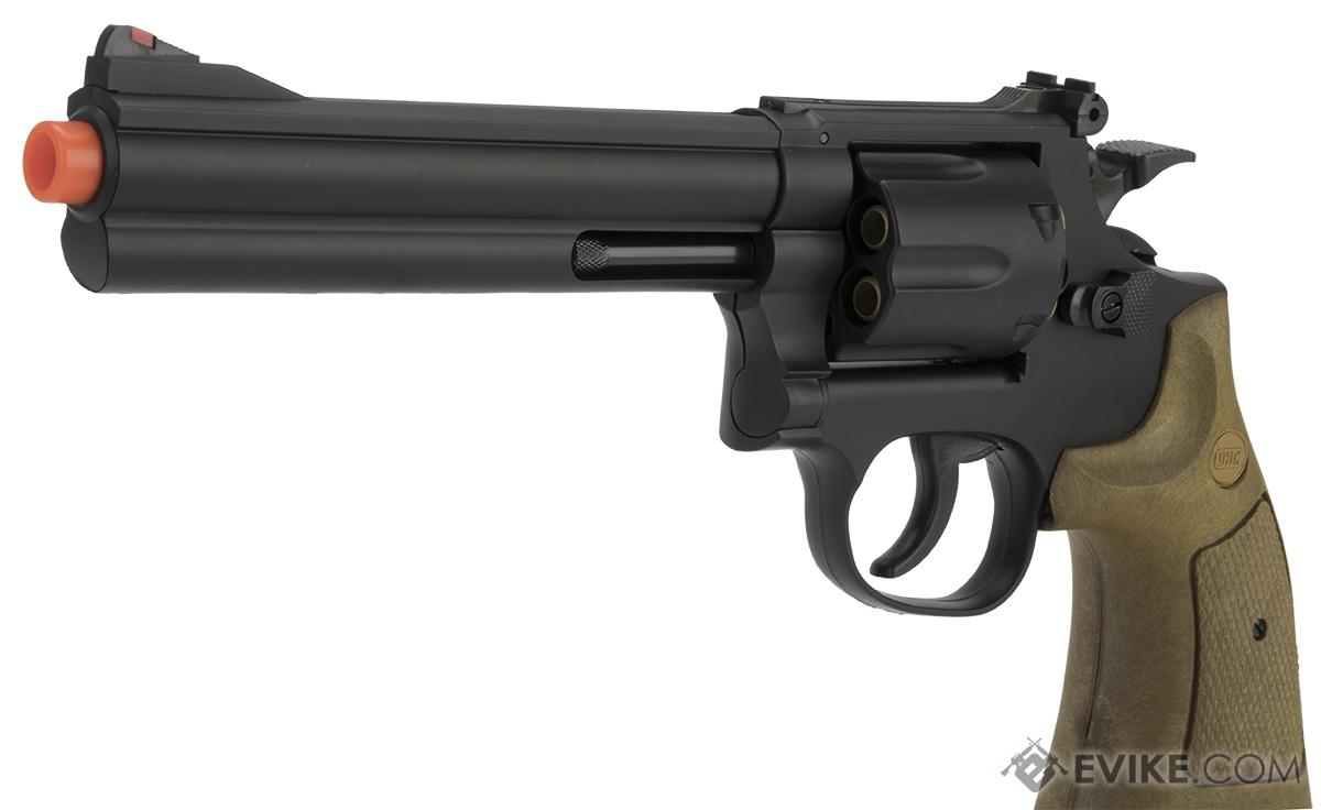 UHC / TSD UA934BW Heavy Weight 6 Airsoft Spring Revolver -  Black