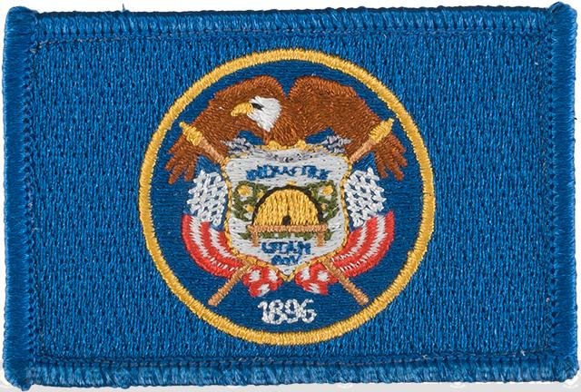 Evike.com Tactical Embroidered Flag Patch (State: Utah The Beehive State)