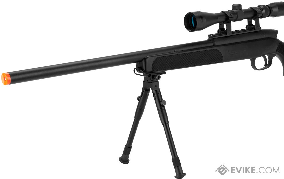 Gen 5 UTG APS2 Airsoft Master Sniper Rifle w/ Bipod - Black (Package: Add 3-9x40 Scope)