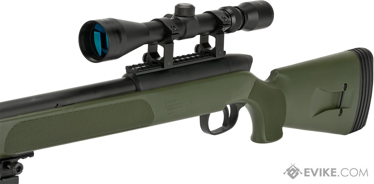 Gen 5 UTG APS2 Airsoft Master Sniper Rifle w/ Bipod - OD Green (Package: Add 3-9x40 Scope)
