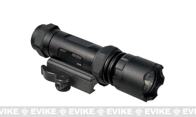 UTG Combat 26mm IRB LED Flashlight, with Interchangeable QD Mounting Deck - 400 Lumens