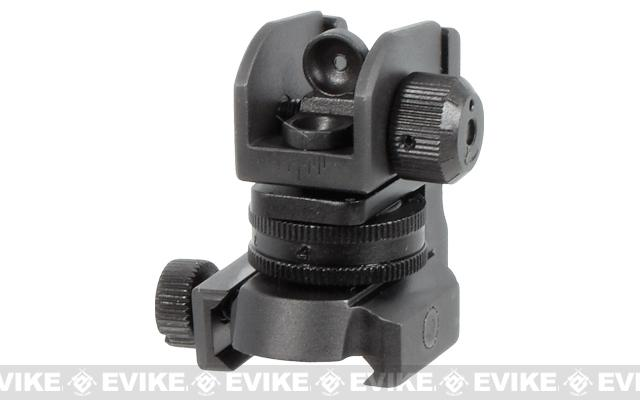 UTG Mil-Spec Compliant Compact A2 Rear Sight with Full Range W/E Adjustment