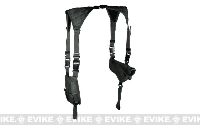 UTG Deluxe Universal Horizontal Shoulder Holster - Black