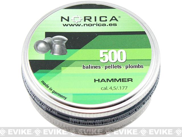 Norica .177 Cal Hammer Pellets - 500 count (FOR AIRGUN USE ONLY)