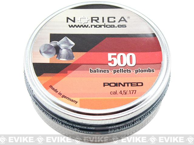 Norica .177 cal Pointed Pellets - 500 Count (FOR AIRGUN USE ONLY)