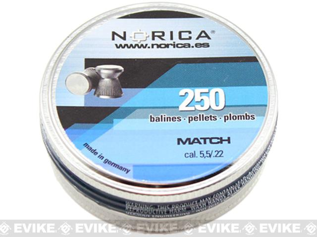 Norica .22 cal Match Pellets - 250 Count (FOR AIRGUN USE ONLY)