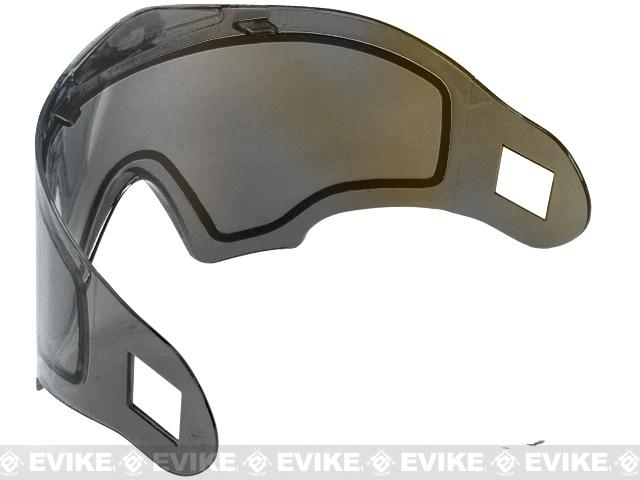 Annex Thermal Lens for Airsoft Paintball Full Face Masks (ANSI Rated) by Valken - Smoke / Mirror