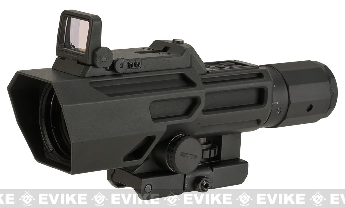 VISM ADO (Advanced Dual Optic) 3-9X42 Illuminated Scope with Integrated Red Dot - P4 Reticle