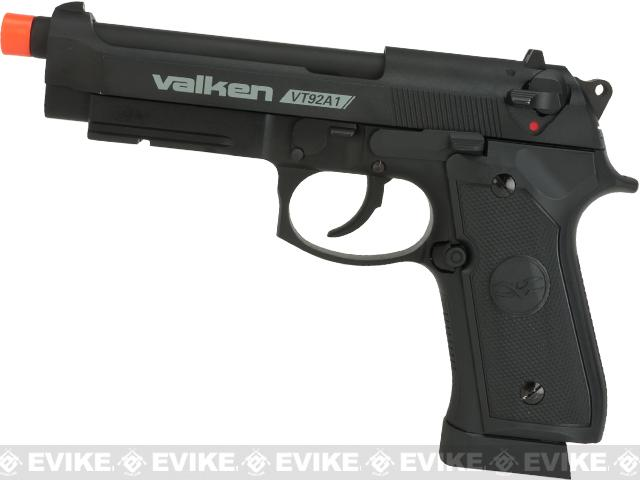 V Tactical VT92A1 Metal Gas Blowback Airsoft Pistol w/ Hard Pistol Case by Valken - Black