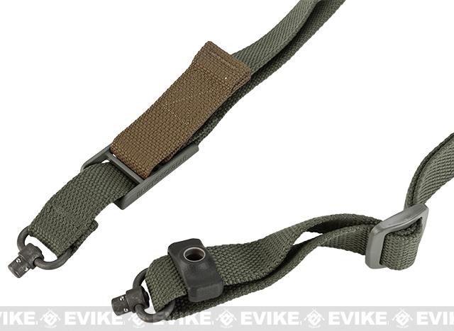 Blue Force Gear 2-to-1 Point Push Button Vickers Acetal Combat Applications Sling™ - Olive Drab