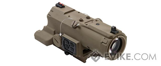 NcStar / VISM ECO 4x34 Scope w/ Green Laser, Nav LED, and Blue Illuminated Reticle - Tan (Urban Tactical Reticle)