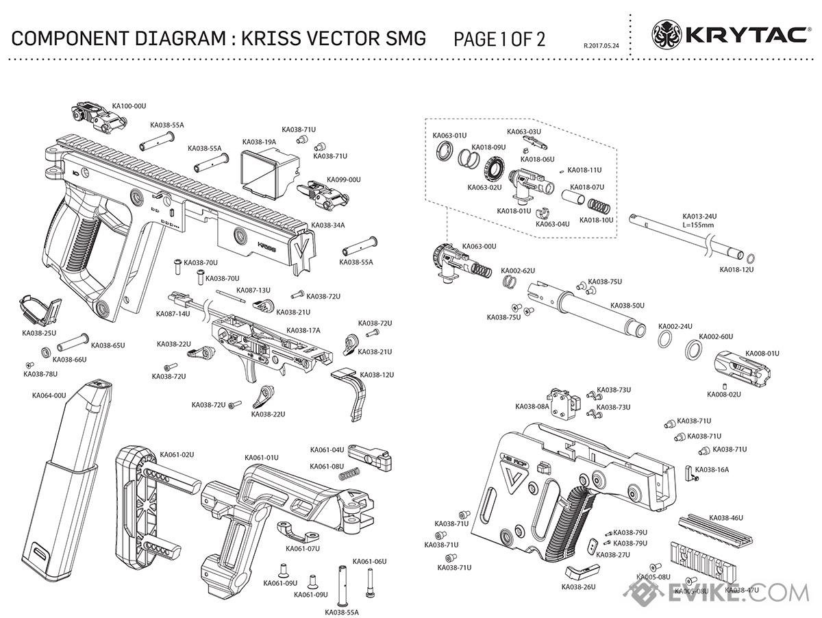 Kriss usa licensed kriss vector airsoft aeg smg rifle by for Vector canape user manual