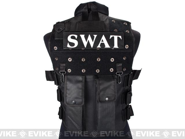 Fire Dragon SWAT Law Enforcement Replica Tactical Vest w/ Patches